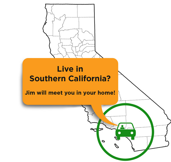 Area Map for Reverse Mortgage Southern California